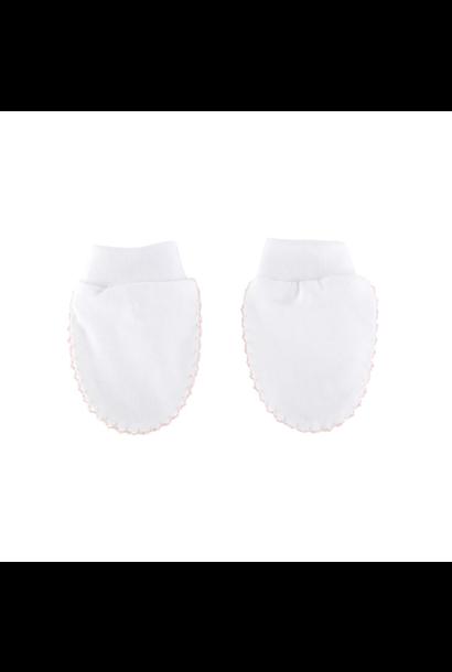 Mittens white / pink
