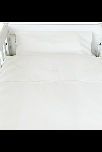 Daunendeckenbezug mit Kissenbezug Cotton White