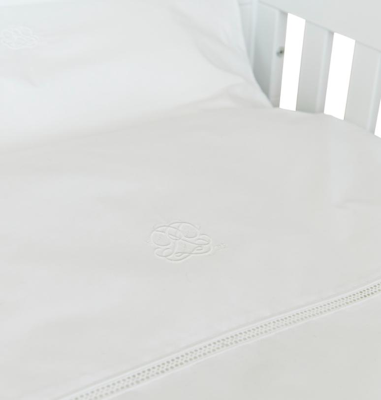 Donsovertrek bed met sloop  Cotton White  Theophile & Patachou-3