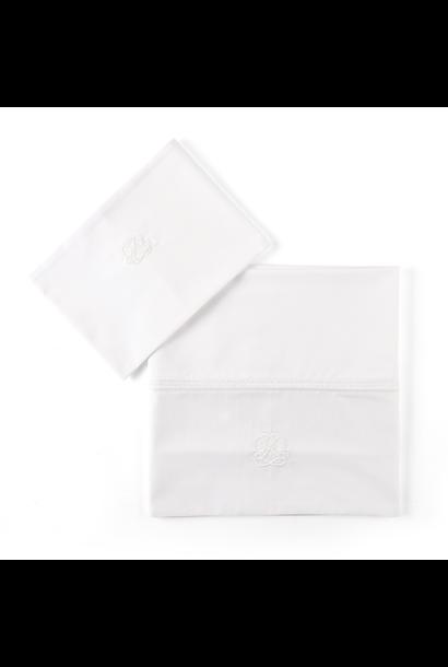 Bettlaken + Kissenbezug Cotton White