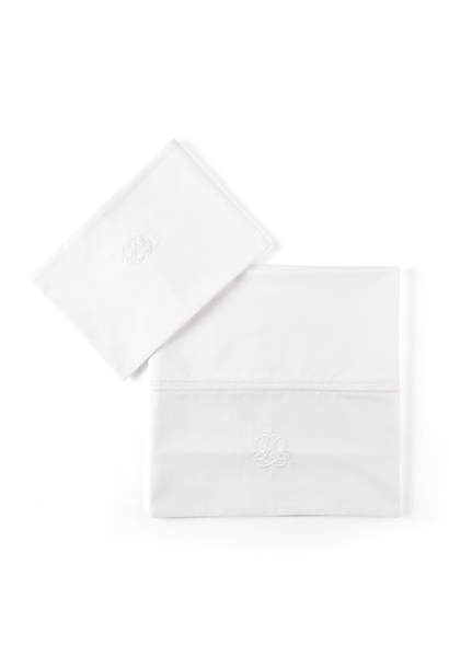 Laken bed + sloop Cotton White