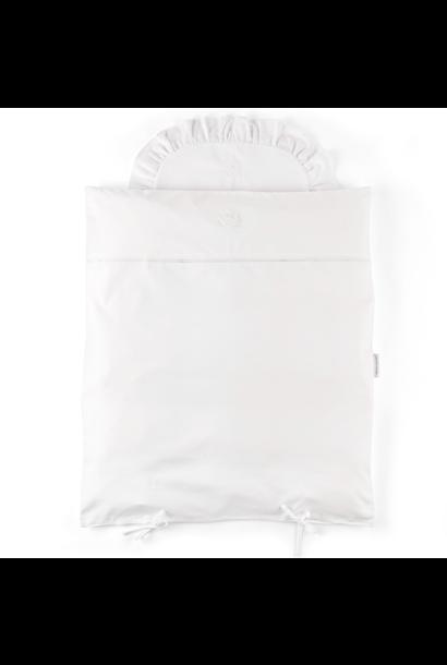 Donsovertrek wieg + sloop Cotton white