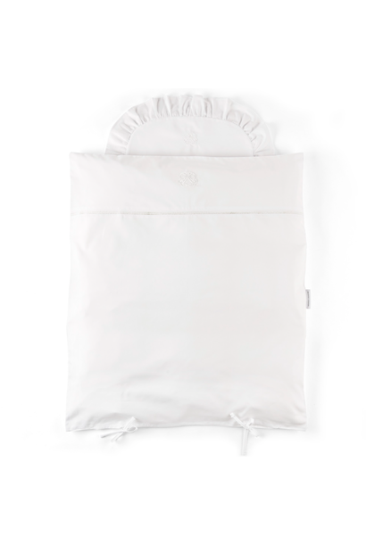 Quilt cover and pillowcase  Cotton white