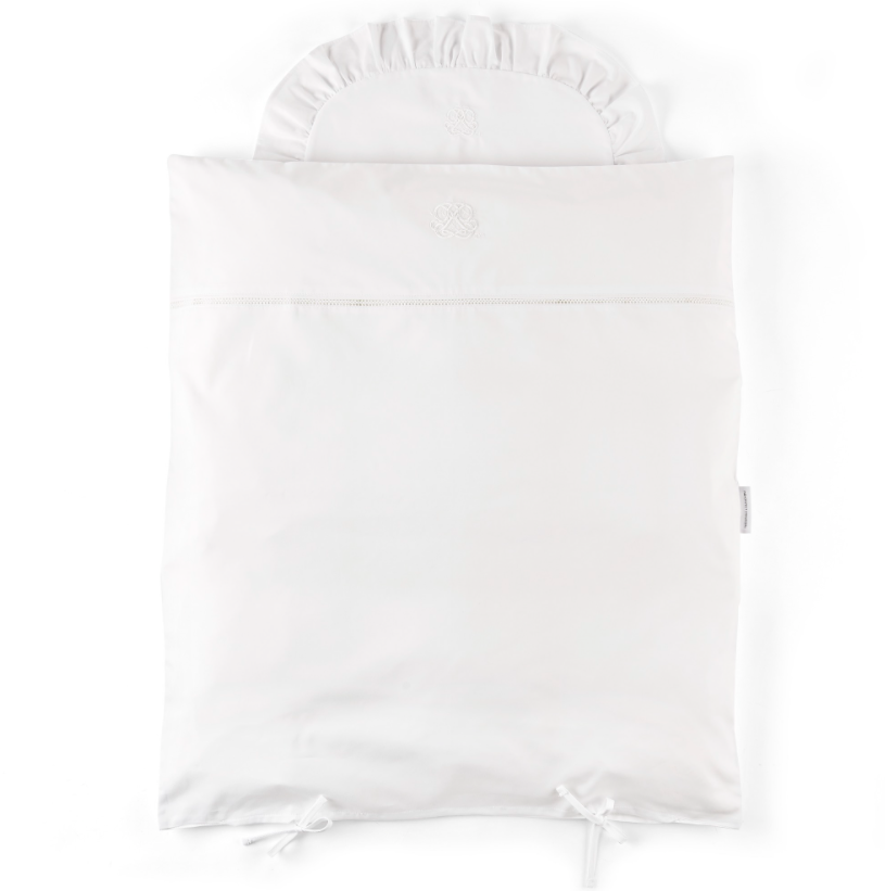 Donsovertrek wieg + sloop Cotton white Theophile & Patachou-1