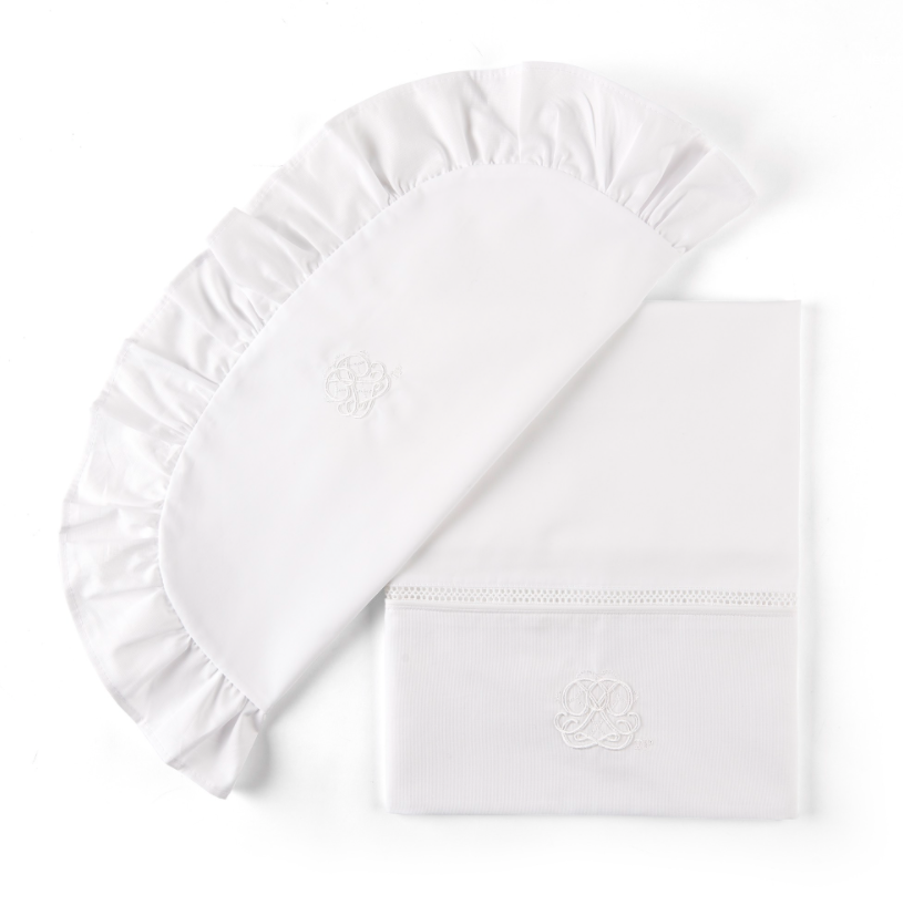 Bettwiege + Kissenbezug Cotton white Theophile & Patachou-1