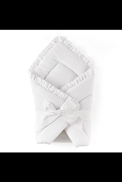 Wrap blanket Cotton white