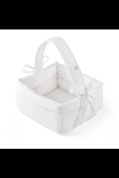 Offener Toilettenkorb Cotton white