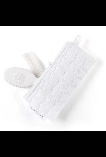 Pinsel und Kamm Cotton white