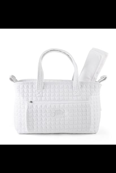 Pram holdall + changing mat  Cotton white