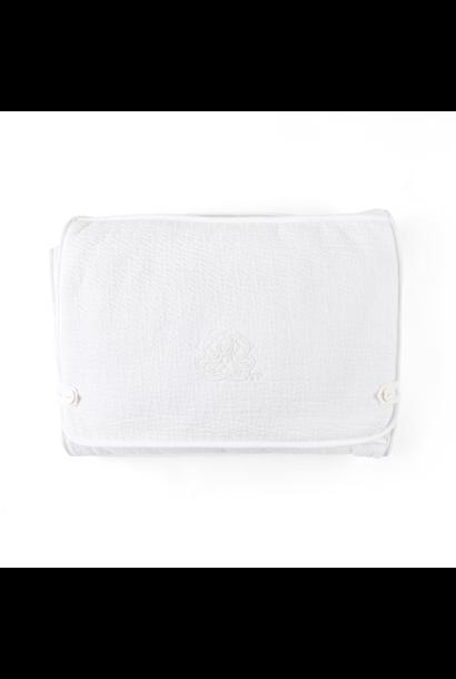 Travel changing mat Cotton white