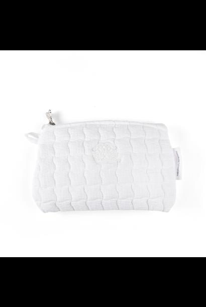 Flache Tasche Cotton white