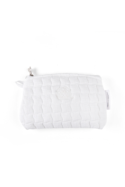 Platte tas Cotton white