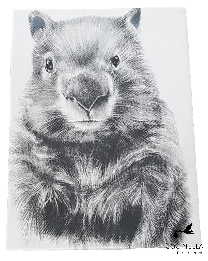 Donsovertrek bed Tencel wombat-1
