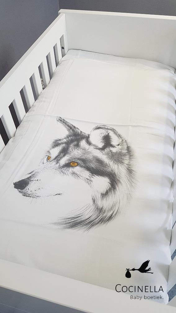 Donsovertrek bed Tencel wolf-2