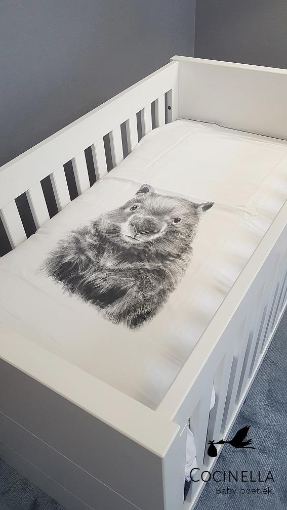 Donsovertrek bed Tencel wombat-2