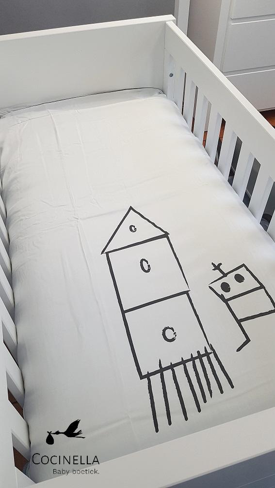 Donsovertrek bed Tencel robot-2