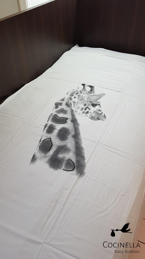Donsovertrek bed 1 persoon Tencel  giraf-2