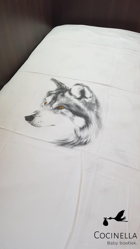Donsovertrek bed 1 persoon Tencel  wolf-2