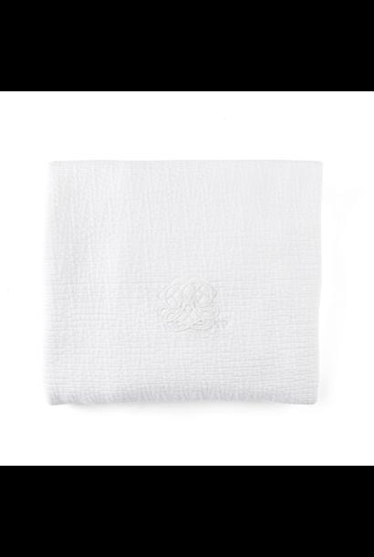 Decke 68x80cm Cotton white