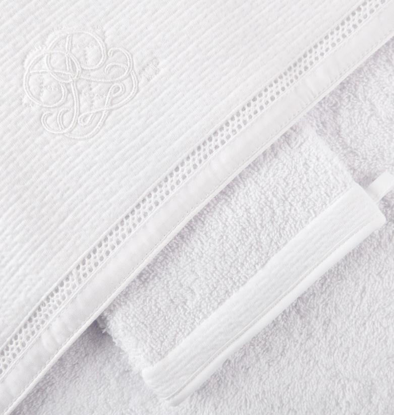 Badcape + washandje Cotton white Theophile & Patachou-3