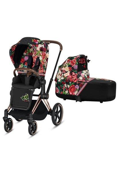 Baby stroller Priam spring blossom dark