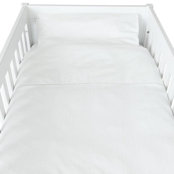 Donsovertrek bed met sloop  Cotton White  Theophile & Patachou-1