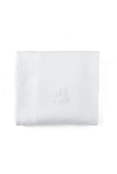 Deken 100x135cm  Cotton white
