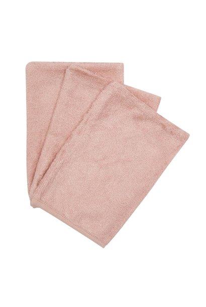 Washcloths per 3   Mistey rose