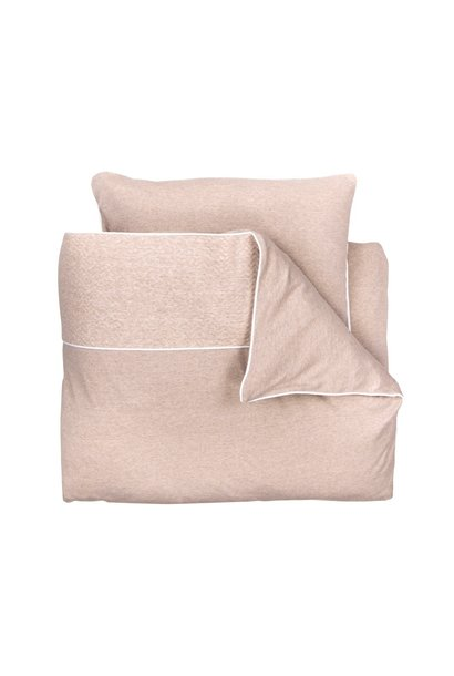 Quilt cover and pillowcase Chevron light camel