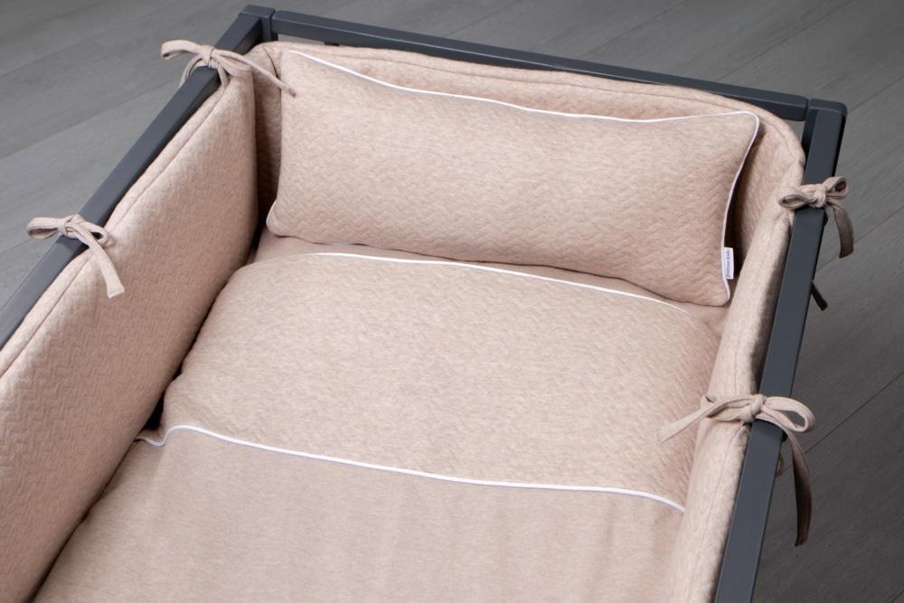 Donsovertrek bed met sloop Poetree Chevron light camel-2