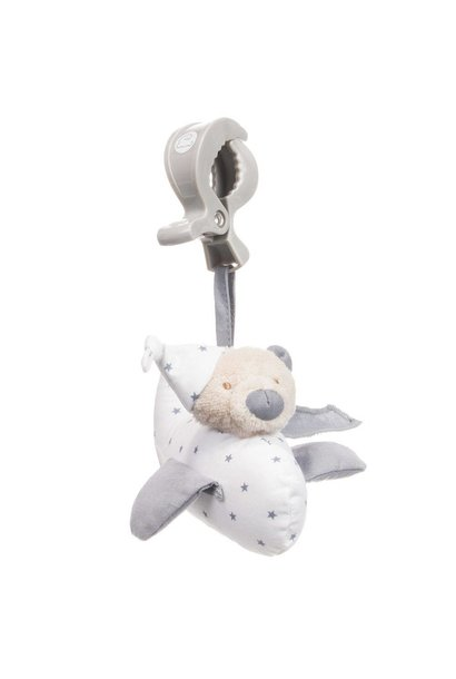 Music cuddly toy with clips