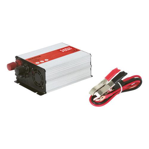 Carpoint Carpoint Omvormer 12V>230V 300W accuklemmen Frans/Belgisch stopcontact