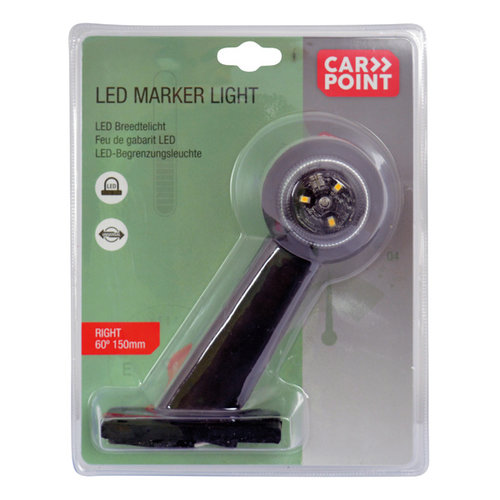 Carpoint Carpoint LED Breedtelicht Rechts 60° Rood/Wit 150mm