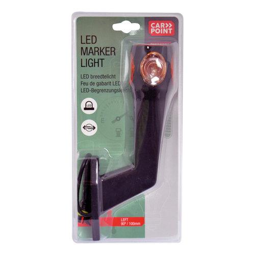 Carpoint Carpoint 12V-5W Breedte- Markeringslicht Links 90° Rood/Wit/Oranje 100mm