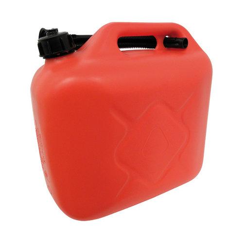 Carpoint Carpoint kunststof benzinekan met flexibele schenktuit en schroefdop. Geschikt voor het veilig vervoeren en opslaan van 10 liter (loodvrije) benzine of diesel. De extra lange flexibele schenktuit wordt, bij het niet gebruiken, in het handvat geklemd. Door