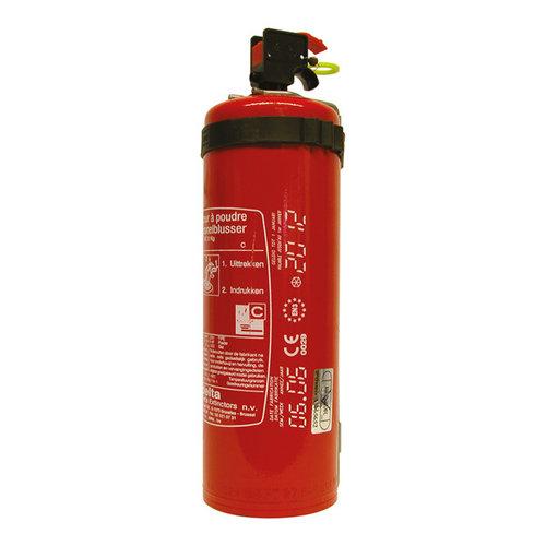 Carpoint 2 Kilogram poeder brandblusser voor het blussen van brand in de brandklasse B (vloeibare stoffen) en C (gassen). Niet geschikt voor het blussen van vetten zoals frituurvet of bakolie. Conform Belgische norm BENOR 2026. Deze brandblusser is specifiek voor