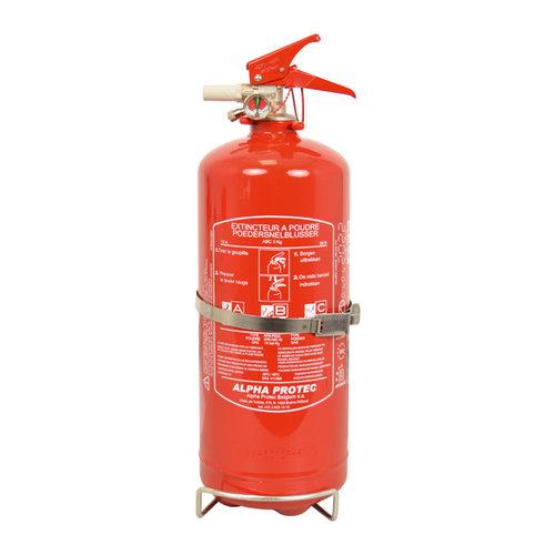 Carpoint 3 Kilogram poeder brandblusser voor het blussen van brand in de brandklasse A (vaste stoffen), B (vloeibare stoffen) en C (gassen). Niet geschikt voor het blussen van vetten zoals frituurvet of bakolie. Conform Belgische norm BENOR 2026. Deze brandblusser