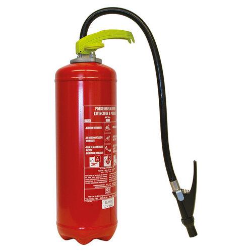 Carpoint 6 Kilogram poeder brandblusser voor het blussen van brand in de brandklasse A (vaste stoffen), B (vloeibare stoffen) en C (gassen). Niet geschikt voor het blussen van vetten zoals frituurvet of bakolie. Conform Belgische norm. Deze brandblusser is specifi