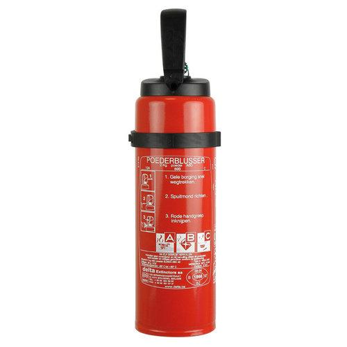 Carpoint 2 Kilogram poeder brandblusser met co2 patroon. Voor het blussen van brand in de brandklasse A (vaste stoffen), B (vloeibare stoffen) en C (gassen). Niet geschikt voor het blussen van vetten zoals frituurvet of bakolie. De brandblusser wordt geleverd met