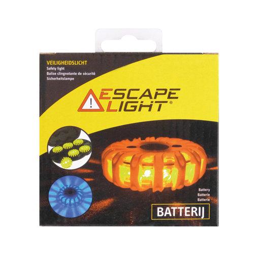 Escape Light 16 Superheldere longlife LED's. 360° zichtbaarheid. 9 flitsstanden. Sterke magnetische voet. Oranje. Duidelijk zichtbaar op 1km tijdens nacht.