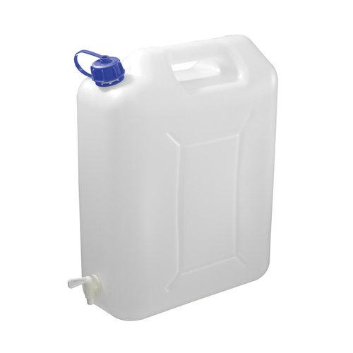 Carpoint Waterkan wit, plastic, geschikt voor water. Niet voor benzine! Met kraantje.