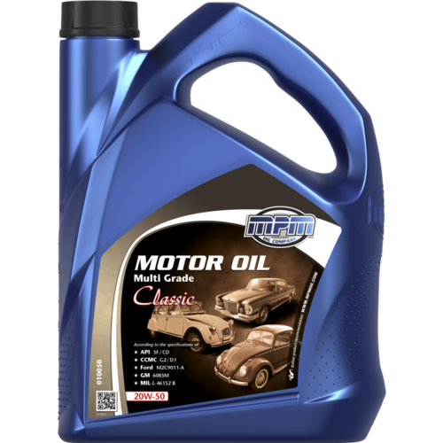 MPM MOTOR OIL 20W-50 MULTI GRADE CLASSIC 5 LITER  01005B