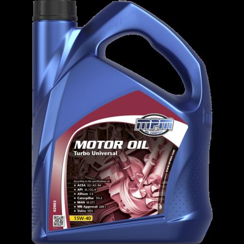 MPM MOTOR OIL 15W-40 TURBO UNIVERSAL 5 LITER 02005