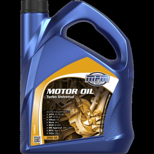 MPM MOTOR OIL 20W-50 TURBO UNIVERSAL 5 LITER 02005A