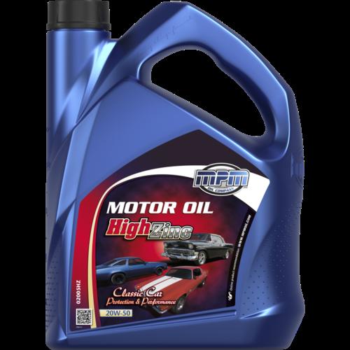 MPM MOTOR OIL 20W-50 CLASSIC HIGH ZINC 5 LITER 02005HZ