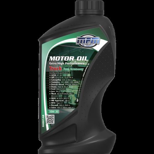 MPM MOTOR OIL 10W-30 EXTRA HIGH PERFORMANCE TRUCK FUEL ECONOMY 1 LITER 04001AB