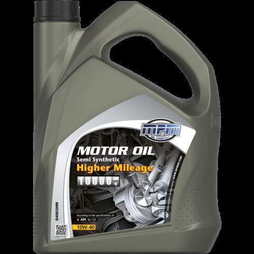 MPM MOTOR OIL 10W-40 SEMI SYNTHETIC HIGHER MILEAGE 5 LITER 04005HM