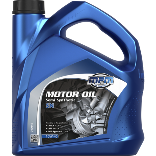 MPM MOTOR OIL 10W-40 SEMI SYNTHETIC SN 5 LITER 04005S