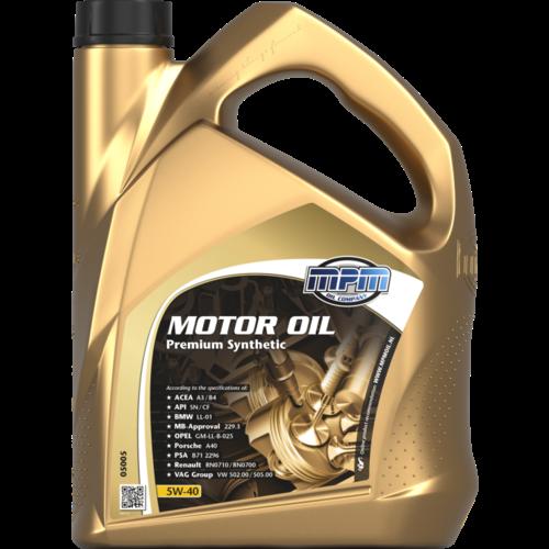 MPM MOTOR OIL 5W-40 PREMIUM SYNTHETIC 5 LITER 05005