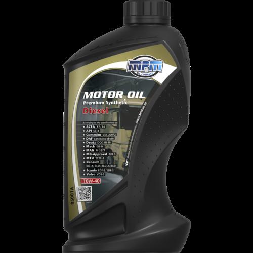 MPM MOTOR OIL 10W-40 PREMIUM SYNTHETIC DIESEL 1 LITER 05001A
